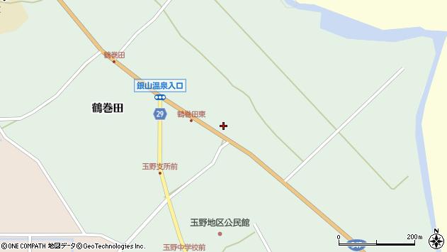 山形県尾花沢市鶴巻田463周辺の地図