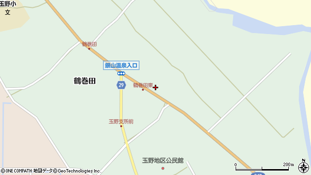 山形県尾花沢市鶴巻田458周辺の地図