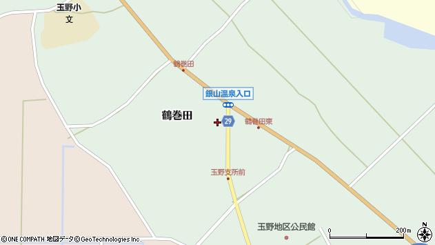 山形県尾花沢市鶴巻田476周辺の地図