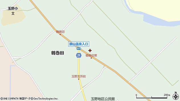 山形県尾花沢市鶴巻田周辺の地図