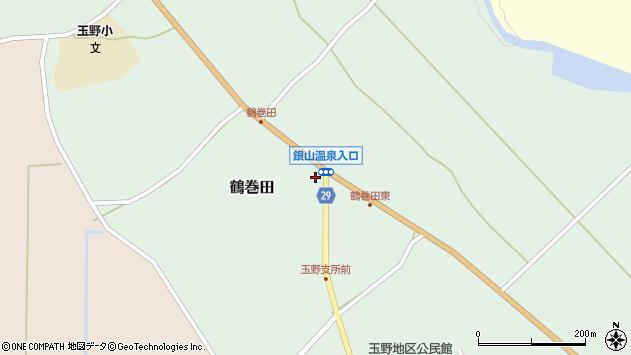 山形県尾花沢市鶴巻田442周辺の地図