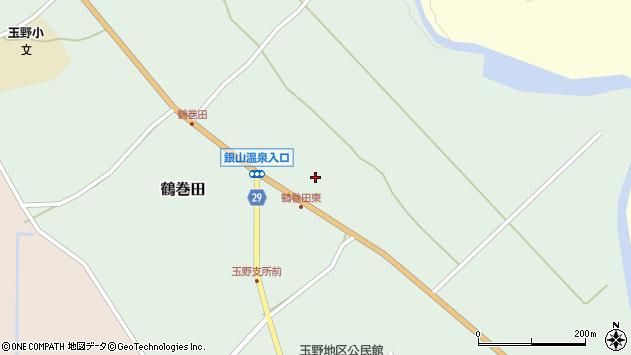 山形県尾花沢市鶴巻田452周辺の地図
