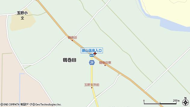 山形県尾花沢市鶴巻田445周辺の地図