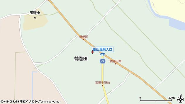 山形県尾花沢市鶴巻田439周辺の地図