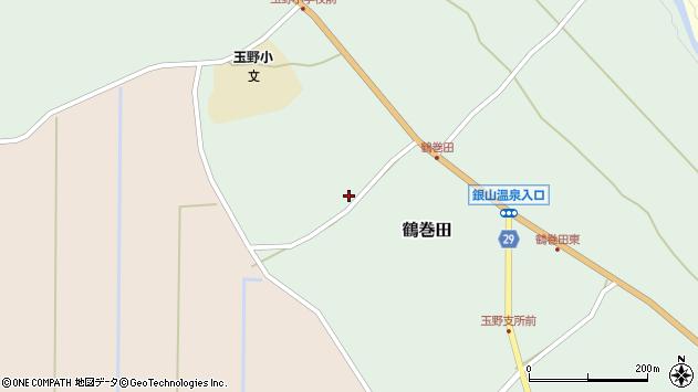 山形県尾花沢市鶴巻田561周辺の地図