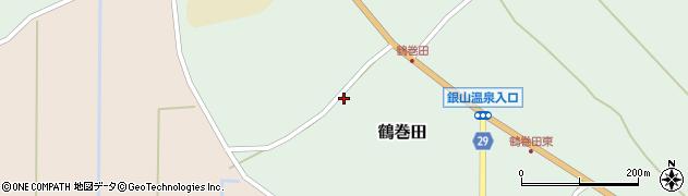 山形県尾花沢市鶴巻田552周辺の地図