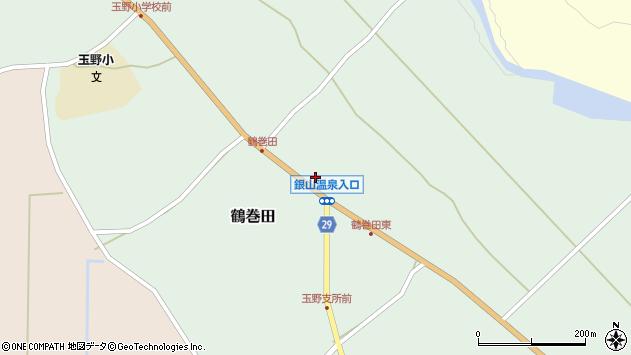 山形県尾花沢市鶴巻田437周辺の地図