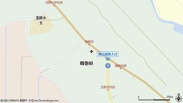 山形県尾花沢市鶴巻田427周辺の地図