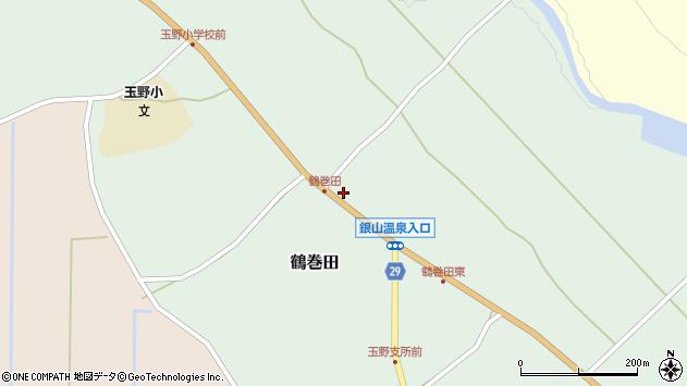 山形県尾花沢市鶴巻田430周辺の地図