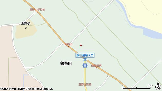 山形県尾花沢市鶴巻田435周辺の地図
