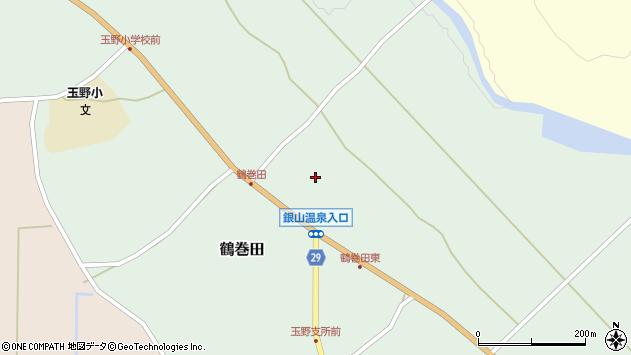 山形県尾花沢市鶴巻田436周辺の地図