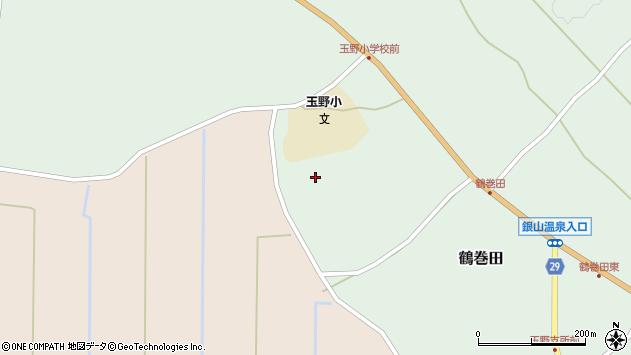 山形県尾花沢市鶴巻田580周辺の地図