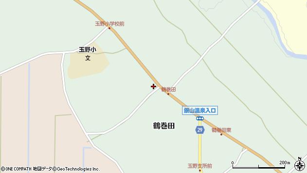 山形県尾花沢市鶴巻田419周辺の地図