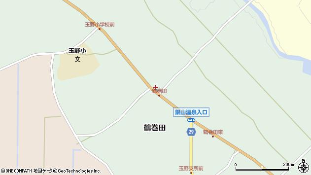 山形県尾花沢市鶴巻田418周辺の地図