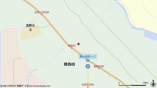 山形県尾花沢市鶴巻田431周辺の地図