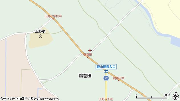 山形県尾花沢市鶴巻田415周辺の地図