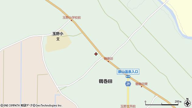 山形県尾花沢市鶴巻田404周辺の地図