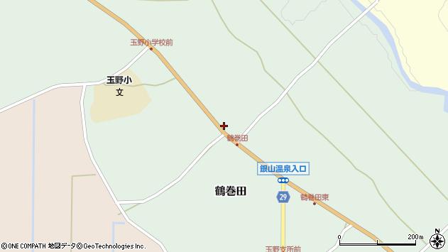 山形県尾花沢市鶴巻田406周辺の地図
