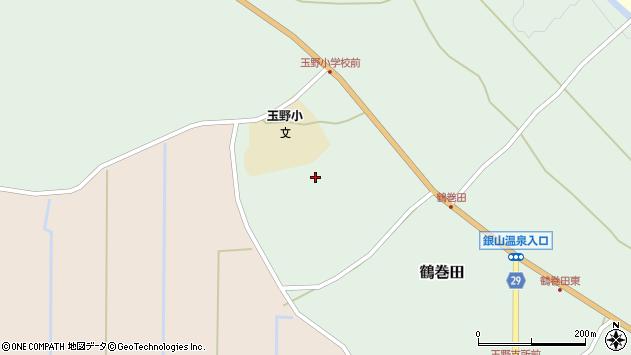 山形県尾花沢市鶴巻田598周辺の地図