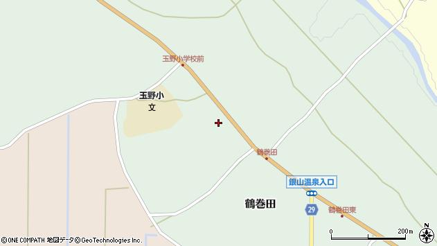 山形県尾花沢市鶴巻田394周辺の地図