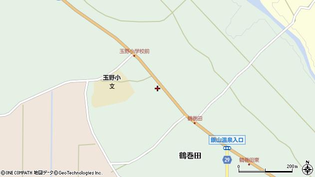 山形県尾花沢市鶴巻田392周辺の地図