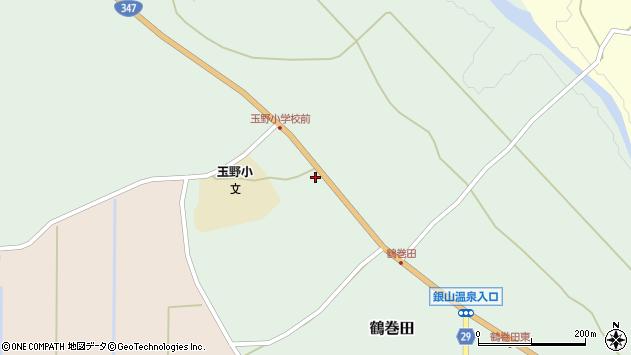山形県尾花沢市鶴巻田383周辺の地図