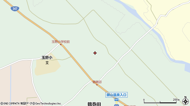 山形県尾花沢市鶴巻田339周辺の地図