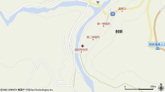 山形県最上郡大蔵村南山535周辺の地図