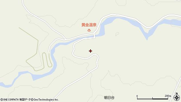 山形県最上郡大蔵村南山黄金温泉周辺の地図