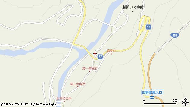 山形県最上郡大蔵村南山468周辺の地図