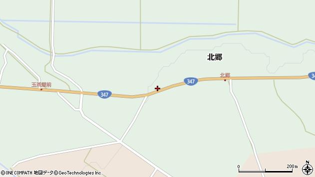 山形県尾花沢市北郷279周辺の地図