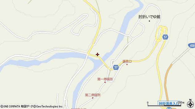 山形県最上郡大蔵村南山571周辺の地図