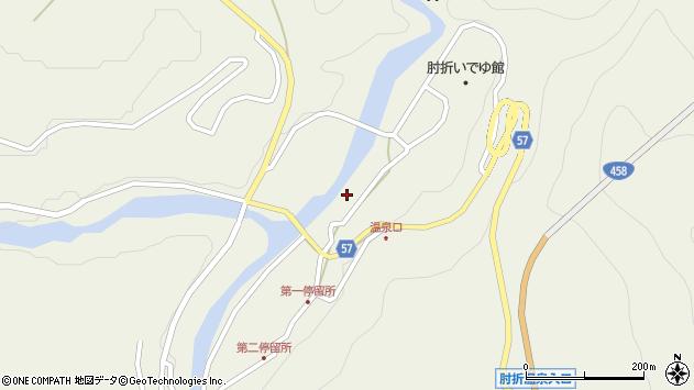 山形県最上郡大蔵村南山454周辺の地図