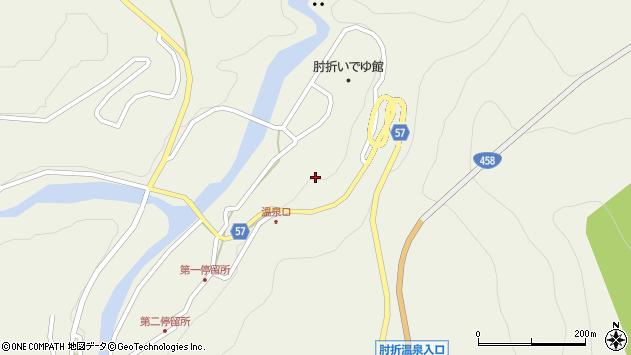 山形県最上郡大蔵村南山3405周辺の地図