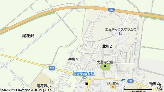 山形県尾花沢市梺町4丁目周辺の地図
