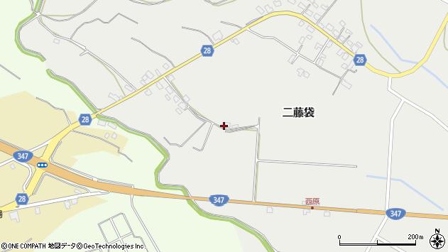 山形県尾花沢市二藤袋112周辺の地図