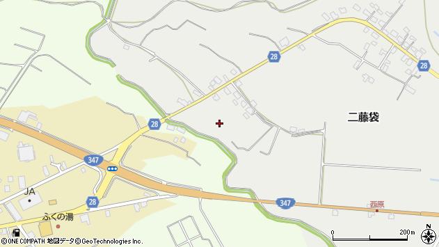 山形県尾花沢市二藤袋西原周辺の地図