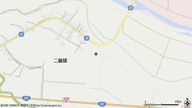 山形県尾花沢市二藤袋363周辺の地図
