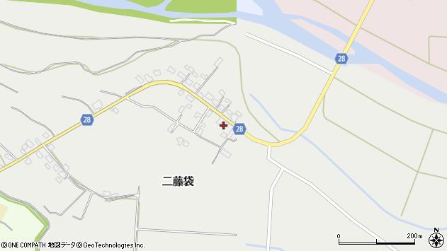 山形県尾花沢市二藤袋281周辺の地図