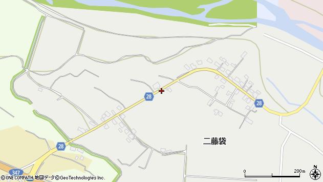 山形県尾花沢市二藤袋161周辺の地図