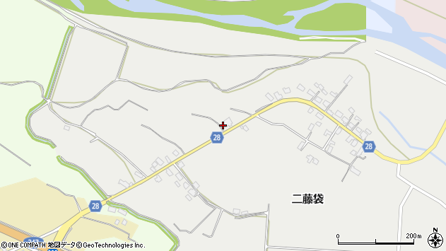 山形県尾花沢市二藤袋133周辺の地図