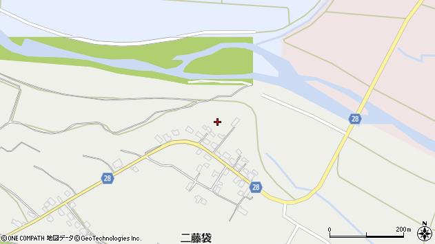 山形県尾花沢市二藤袋上宿周辺の地図