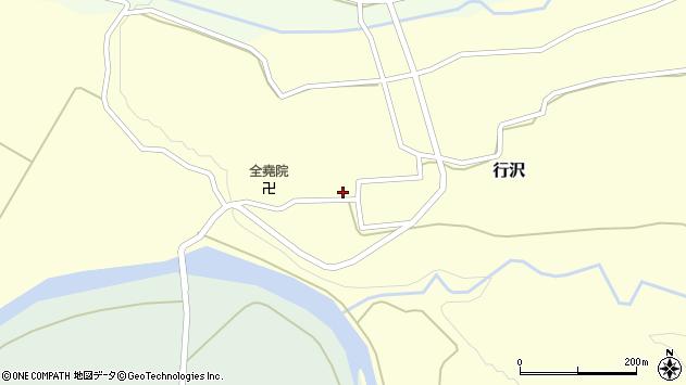 山形県尾花沢市行沢316周辺の地図