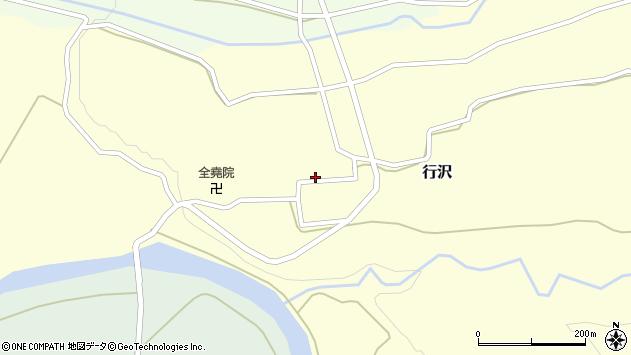 山形県尾花沢市行沢348周辺の地図