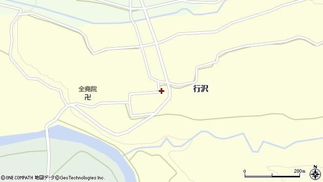 山形県尾花沢市行沢周辺の地図