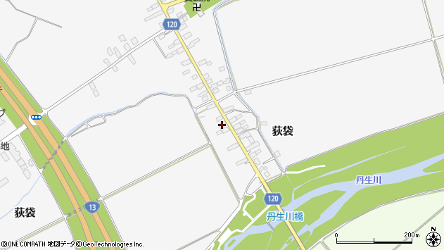 山形県尾花沢市荻袋710周辺の地図