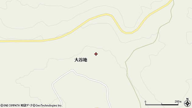 山形県最上郡大蔵村南山大谷地周辺の地図