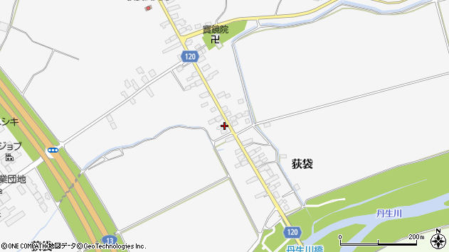 山形県尾花沢市荻袋704周辺の地図
