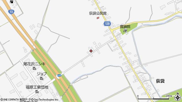 山形県尾花沢市荻袋627周辺の地図