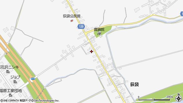 山形県尾花沢市荻袋698周辺の地図